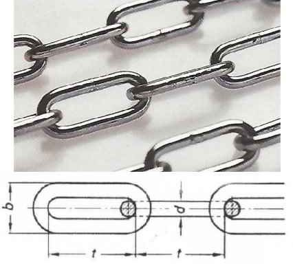 CHAIN DIN 5685 (FORM C LONG LINK)